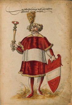 «Der ... Osterreich Herold». Faszikel VIII: Wappenherolde der süddeutschen Länder (211r) -- «Sammelband mehrerer Wappenbücher», Augsburg? (Süddeutschland), um 1530 [BSB Cod.icon 391].
