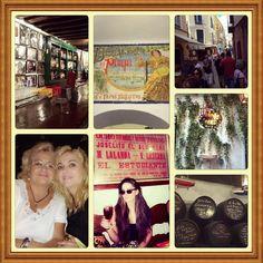 """En mi Málaga """"La bella"""" y """"La cantaora"""" en """"Bodegas el pimpi"""" hoy día de mujeres con mi mami y mi hermana"""