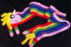 Adventure Time Lady Rainicorn inspired scarf by BleedinFingers, $35.00