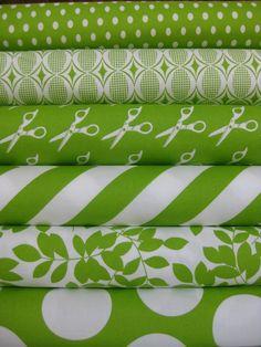 shades of green fabric