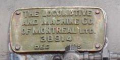 Canadian National Railway (CNR) Steam Locomotive Roster - Locomotive Builders plate Nº 38914, from CNR K-1-d 5529.