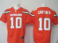 2016 Nike NFL Cleveland Browns 10 Griffin III orange Elite jerseys