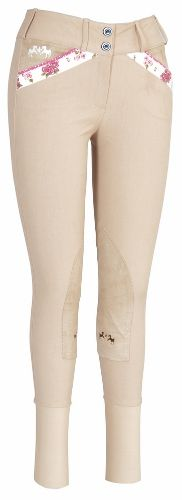 Equine Couture Ladies Bindia Knee Patch Breeches Cute pockets! $60