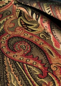 Trend: Pattern 01848 in Coffee. Trend Fabrics, Silk Brocade, Fabulous Fabrics, Tree Of Life, Fabric Decor, Yarns, Fiber Art, Paisley, Branding Design