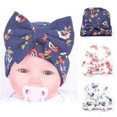 2017 New Hospital Newborn Hat Baby Girl Beanie With Big Bowknot Newborn  Knit Infant Flower Caps Baby Toddler Hat Accessories 7b0603a1dbf8