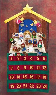Calendario de adviento con belén