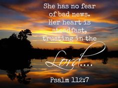 psalms 112:7 - Google Search