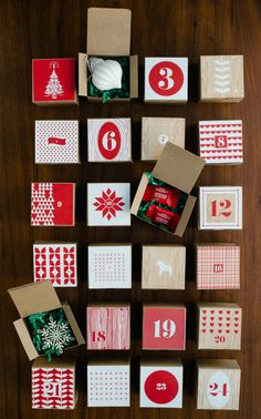 Ohoh Blog - diy and crafts: 5 DIY to try # printable advent calendars