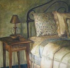 Her Room by Kara K. Bigda (kkoz517)  Watercolor illustration on board. http://www.karakbigda.com/portfolio.html