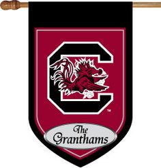 Personalized flag--dang hubby likes the Dawgs--booo