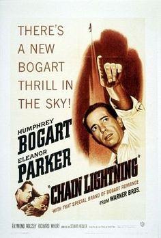 """Chain Lightning"" Humphrey Bogart and Eleanor Parker 1950 Warner Bros."