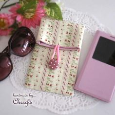 Handmade Fold over pouch for sunglasses smart phones by Chergis