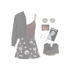 """lose it//oh wonder"" by mellowsoul ❤ liked on Polyvore featuring Glamorous, Motel, J.Crew, NARS Cosmetics, G.V.G.V. and Dr. Martens"