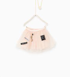 Image 1 of Short tulle skirt from Zara