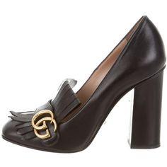 Black Block Heel Pumps, Black Pumps, Block Heels, Gucci 2017, Gucci Brand, Court Shoes, Leather Pumps, Pumps Heels, Heeled Mules