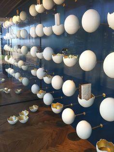 好多蛋~ 殼~!!!! 但是花點巧思變成擺設陳列商品的幫手也很有趣!