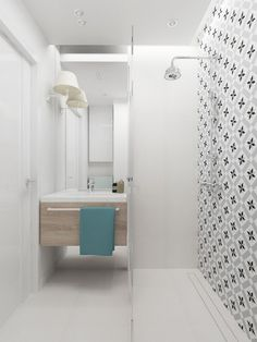 Aranżacja małej łazienki w bieli - Lovingit.pl