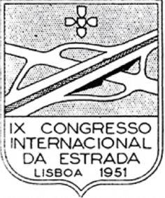[Notice encyclopédique EHNE : Neuvième congrès mondial de la route, Lisbonne, 1951]   Logo du congrèsmondial de la route, Lisbonne, 1951.