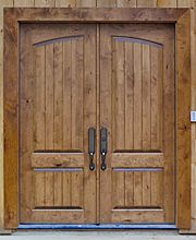 Old World Exterior Wood Front Entry Door DbyD-3031