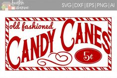 Old Fashioned Candy Canes Christmas SVG File is perfect for vinyl decal crafts with a Cricut or Silhouette cutting machine! Christmas Decals, Christmas Svg, Christmas Printables, Christmas Candy, Vintage Christmas, Christmas Holidays, Christmas Ornaments, Christmas Movies, Christmas Trees