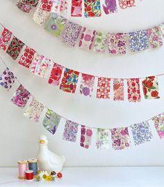 Fabric Bunting by cheryl