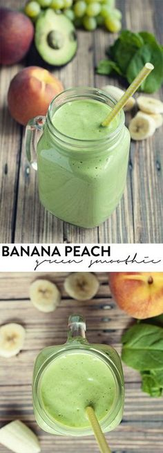 smoothies don't have to be gross, and this banana peach green smoothie will have you wanting more! Green smoothies don't have to be gross, and this banana peach green smoothie will have you wanting more! Healthy Breakfast Smoothies, Yummy Smoothies, Healthy Drinks, Superfood Smoothies, Healthy Protein, Healthy Breakfasts, Green Breakfast Smoothie, Simple Smoothies, Protein Fruit
