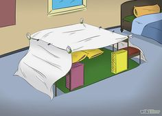 How to Make a Blanket Fort: 15 Steps (with Pictures) - wikiHow Always a good reference point if stuff's falling down ; Sleepover Fort, Fun Sleepover Ideas, Girl Sleepover, Indoor Forts, Indoor Camping, Sofa Fort, Cool Forts, Build A Fort, Things To Do When Bored