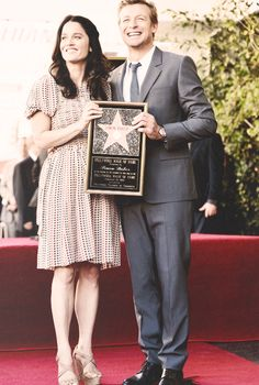 Simon Baker and Robin Tunney. They're both so absolutely adorable.