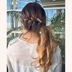 "Heli sanoo Instagramissa: ""#frenchbraid into a #ponytail 🌿 . . . #ranskanletti #poninhäntä #braidinghair #braidideas #braidingbad #instabraids #lettikampaus #trenzas…"""