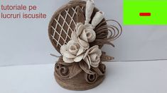Jute Crafts, Diy And Crafts, Felt Flowers, Diy Flowers, Sisal, Quilling, Bobbin Lacemaking, Tulips Garden, Decoupage
