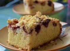 Ciasto na maślance z truskawkami i kruszonką Krispie Treats, Rice Krispies, Vanilla Cake, Food, Meal, Eten, Meals