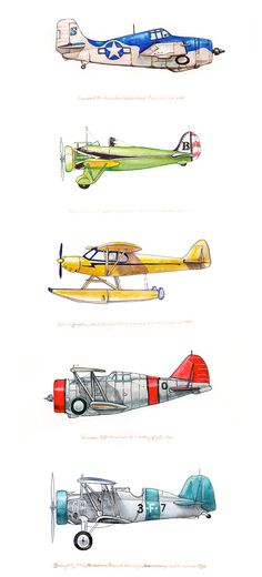 A squadron of flying machines from artist Tara Neal.