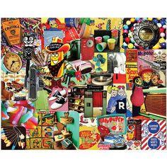 Retro Collage Jigsaw Puzzle-1000 Pieces Trip Down Memory Lane Vintage Items