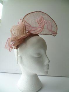 Pink and Brown Large Architectural Fascinator Hat by susansteiner, £52.50