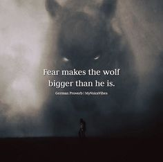 Positive Quotes : QUOTATION – Image : Quotes Of the day – Description Fear makes the wolf bigger.. Sharing is Power – Don't forget to share this quote ! https://hallofquotes.com/2018/04/12/positive-quotes-fear-makes-the-wolf-bigger/