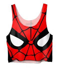 Spiderman Crop Top