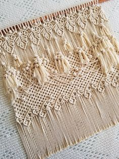 Large, Neutral, Monochromatic, Rose Knots and Leaves Macramé, Wall Tapestry Hanging Macrame Art, Macrame Projects, Macrame Knots, Neutral, Indigo, Macrame Curtain, Macrame Patterns, Wall Tapestry, Hanging Tapestry