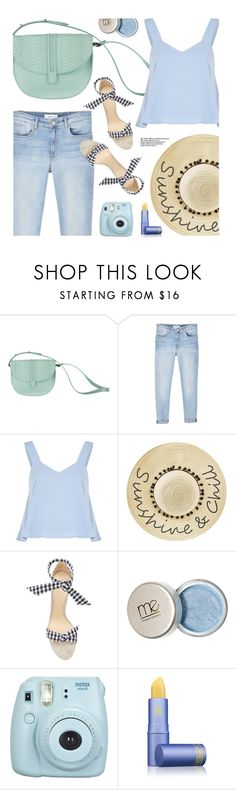 """""""SummerTime"""" by mezzanotteofficial ❤ liked on Polyvore featuring MANGO, Betsey Johnson, Alexandre Birman, Fuji, Lipstick Queen and Blue"""