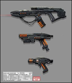 Weapon Concept Art by Peter McKinstry