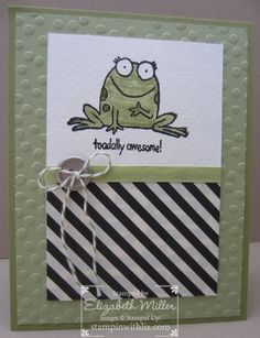 "Stampin Up You're sublime ""toadally awesome"" card idea"