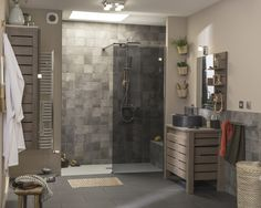 Une salle de bains au style naturel