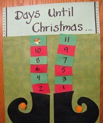 #Advent calendar #craft for the kids!  Elf-inspired, of course :)  also has a song that kids can sing to count down to Christmas.