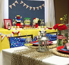 Its a popey the sailor themed party so cute would be fun to have fried chicken at to lol Baby Boy Birthday, Boy Birthday Parties, Sailor Birthday, Birthday Ideas, Baby Shower Decorations For Boys, Boy Baby Shower Themes, Baby Boy Shower, Sailor Party, Sailor Theme