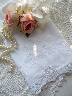 Towel Crochet Open Cutwork Tea Towel Vanity by mailordervintage