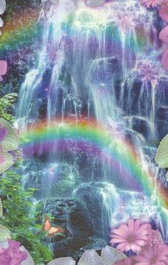 This rainbow waterfall is way to beautiful Beautiful Waterfalls, Beautiful Landscapes, Great Pictures, Beautiful Pictures, Beautiful World, Beautiful Places, Rainbow Waterfall, Over The Rainbow, Ciel