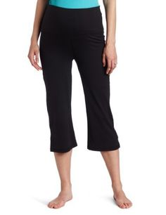 Fit2BMom Women's Maternity Bliss Yoga Capri Pant Fit2BMom. $31.00. 92% Supplex/8% Lycra. Our signature moisture-wicking fabric. Hidden gusset for added protection. Fitted through upper thighs and flares at knee. All purpose pant. Machine Wash. Roll up or down waistband