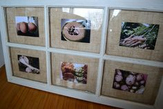 Use old windows for picture frames