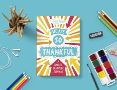 We Are So Thankful: A shared gratitude journal by Katie Clemons Cool Journals, Pregnancy Journal, Happy Reading, Reading Challenge, Self Discovery, Time Capsule, Adult Children, Journal Prompts, Father And Son
