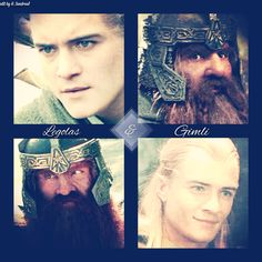 Middle Earth Pairings 4/7 Legolas and Gimli  by Heather Sondreal