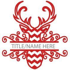 Silhouette Design Store: chevron deer split title